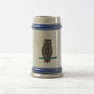 蒸気のパンクのフクロウ ビールジョッキ
