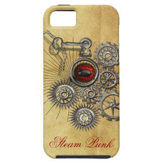 蒸気のパンクの時計仕掛けの赤い目の予測できない電話箱 iPhone SE/5/5s ケース