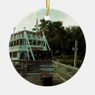 蒸気のボート セラミックオーナメント