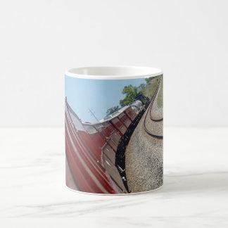 蒸気の列車およびキャリッジクイーンズランドオーストラリア コーヒーマグカップ