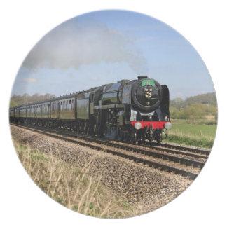 蒸気の列車のオリバー・クロムウェルのプレート プレート