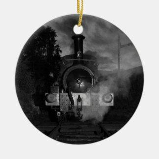蒸気の列車のオーナメント セラミックオーナメント