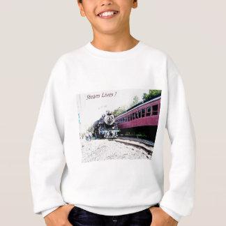 蒸気の列車のデジタルレンダリング、BM&R #425 スウェットシャツ
