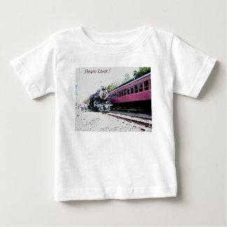 蒸気の列車のデジタルレンダリング、BM&R #425 ベビーTシャツ