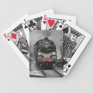 蒸気の列車のトランプ バイスクルトランプ