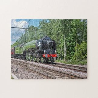 蒸気の列車のパズル ジグソーパズル
