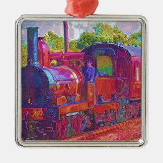 蒸気の列車のロコモーティブの鉄道の熱狂者の芸術 メタルオーナメント