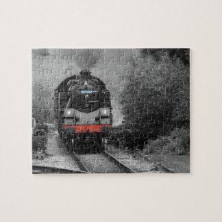 蒸気の列車の写真のパズル ジグソーパズル