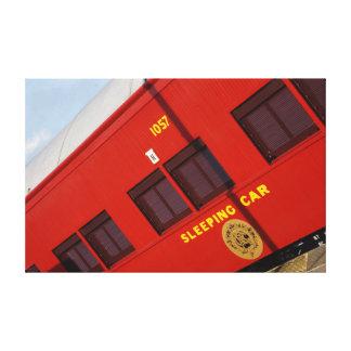 蒸気の列車の寝台車キャリッジ田園オーストラリア キャンバスプリント
