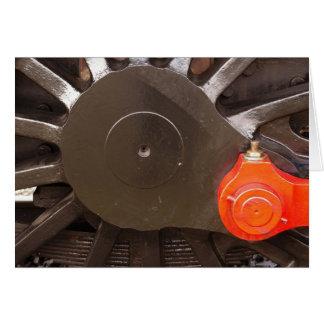 蒸気の列車の車輪 カード