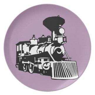 蒸気の列車機関車 プレート