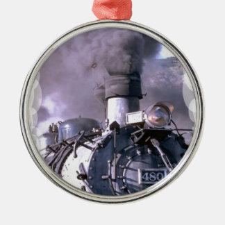 蒸気の列車米国 メタルオーナメント