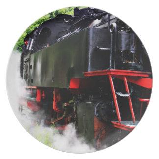蒸気の列車64-491のプレート プレート