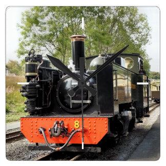 蒸気の列車 スクエア壁時計