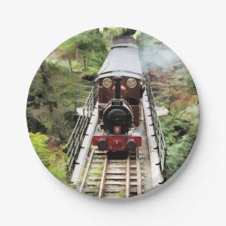 蒸気の列車 ペーパープレート