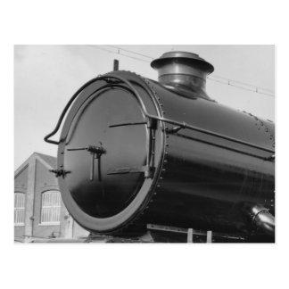 蒸気の列車 ポストカード