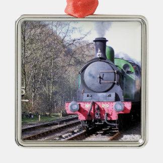蒸気の列車 メタルオーナメント