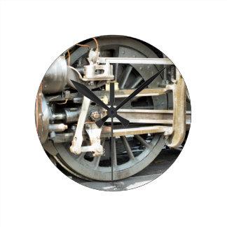 蒸気の列車 ラウンド壁時計