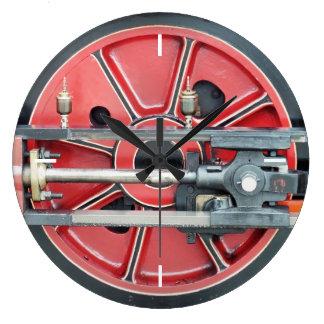 蒸気の列車 ラージ壁時計