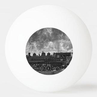 蒸気の列車 卓球ボール