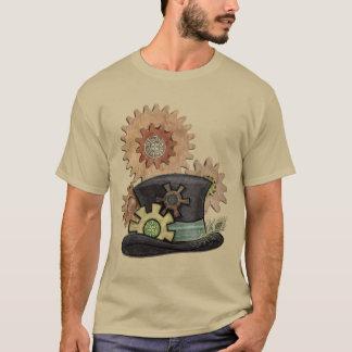 蒸気の口答えのSteampunkの混合メディア Tシャツ