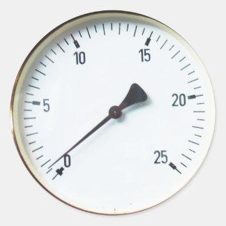 蒸気の圧力計のダイヤルSickers ラウンドシール