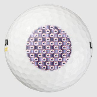 蒸気の船は縞で飾ります ゴルフボール