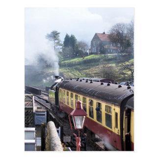 蒸気はイギリスを訓練します ポストカード