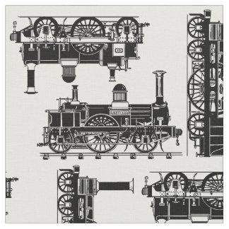 蒸気はクラシックなヴィンテージのビクトリア時代の人機関車を訓練します ファブリック