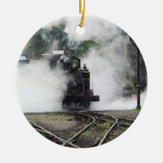 蒸気機関のクリスマスのオーナメント セラミックオーナメント