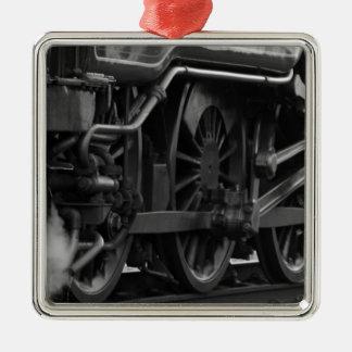 蒸気機関のロコモーティブの列車のギフト メタルオーナメント