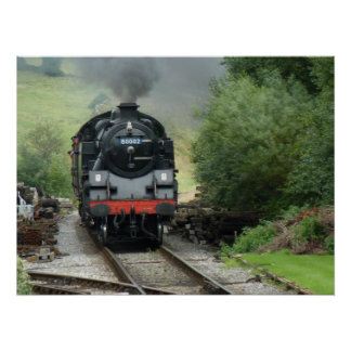 蒸気機関の列車ポスター ポスター