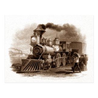 蒸気機関の郵便はがき ポストカード