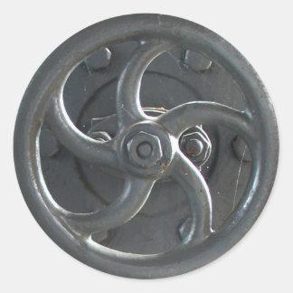蒸気機関圧力調節の車輪のステッカー ラウンドシール