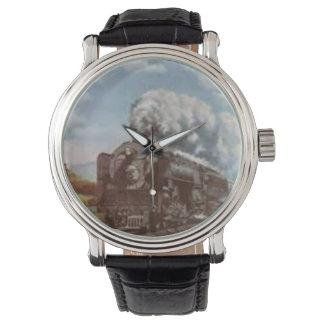 蒸気機関車が付いているヴィンテージ腕時計 腕時計
