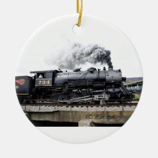 蒸気機関車のオーナメント セラミックオーナメント