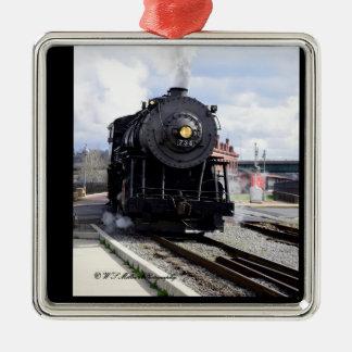 蒸気機関車のオーナメント メタルオーナメント
