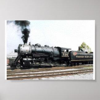 蒸気機関車 ポスター