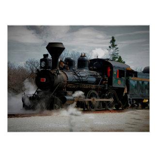 蒸気機関#3のプレーリードッグの本部ポスター ポスター
