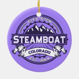 蒸気船のロゴのオーナメント セラミックオーナメント