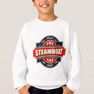 蒸気船の古いラベル スウェットシャツ