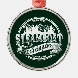 蒸気船の古い円3 メタルオーナメント