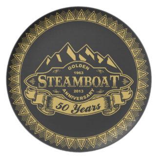 蒸気船第50記念日の紋章 プレート