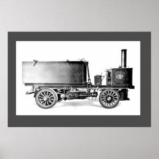 蒸気「タンク」ワゴン ポスター