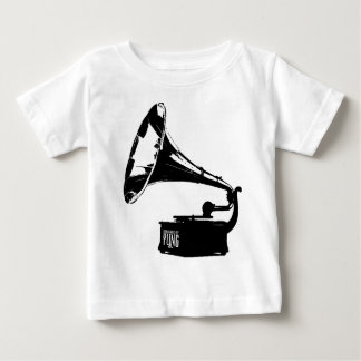 蓄音機プレーヤー ベビーTシャツ