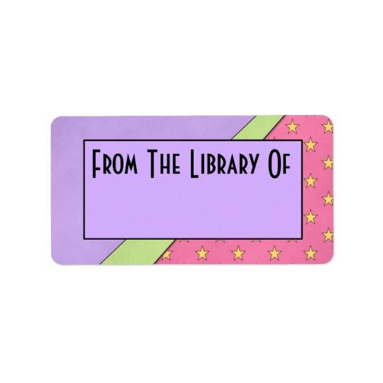 蔵書票のギフトのモダンなスタイルの読書図書館 宛名ラベル