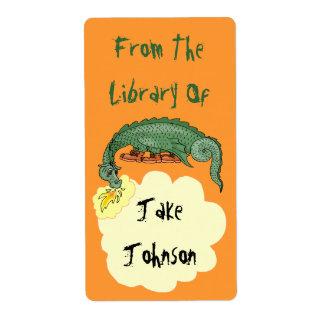 蔵書票のドラゴンによっては図書館からの名前がの呼吸します ラベル