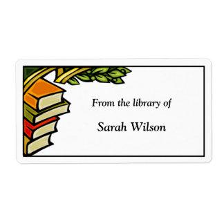 蔵書票のラベル ラベル