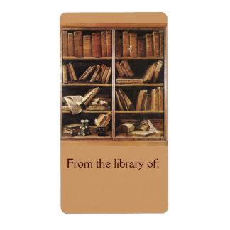 蔵書票の図書館から ラベル