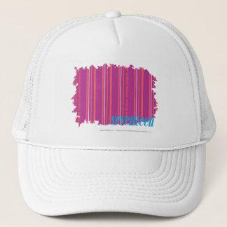 薄いストライプの紫色2 キャップ
